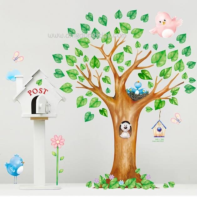 """สติ๊กเกอร์ตกแต่งผนัง หมวดต้นไม้ """"Big Tree"""" ความสูง 120 cm กว้าง 100 cm"""