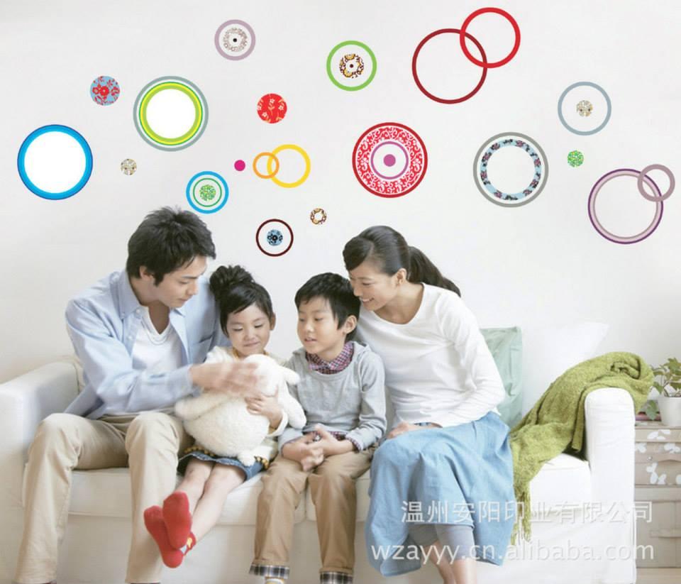 """ลดล้างสต็อก สินค้าลดราคา 50% """"Color of Circle"""" ความสูง 95 cm กว้าง 215 cm"""