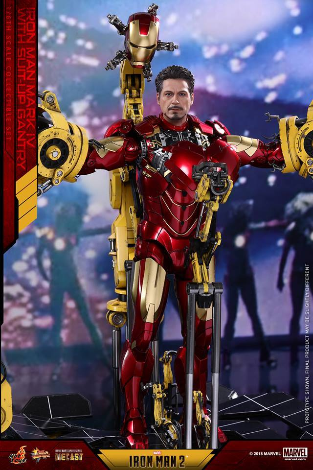 Hot Toys MMS462D22 IRON MAN 2 - MARK IV WITH SUIT-UP GANTRY