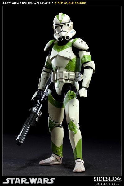 SIDESHOW STAR WARS - Militaries Or Star Wars: 442nd SIEGE BATTALION clone trooper