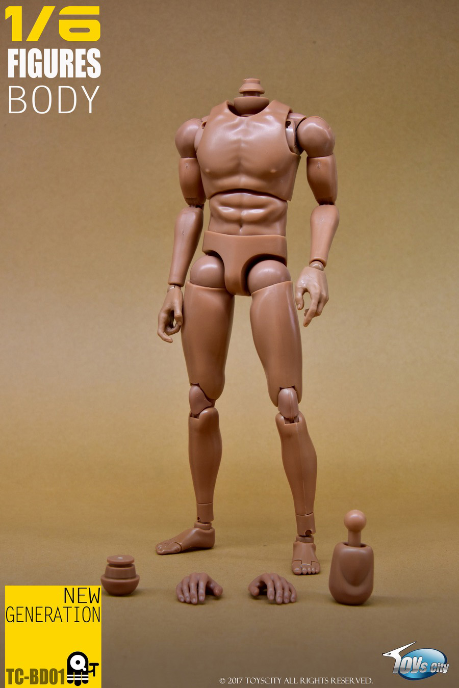 TOYSCITY BD01 1/6 Male Narrow Figure Body