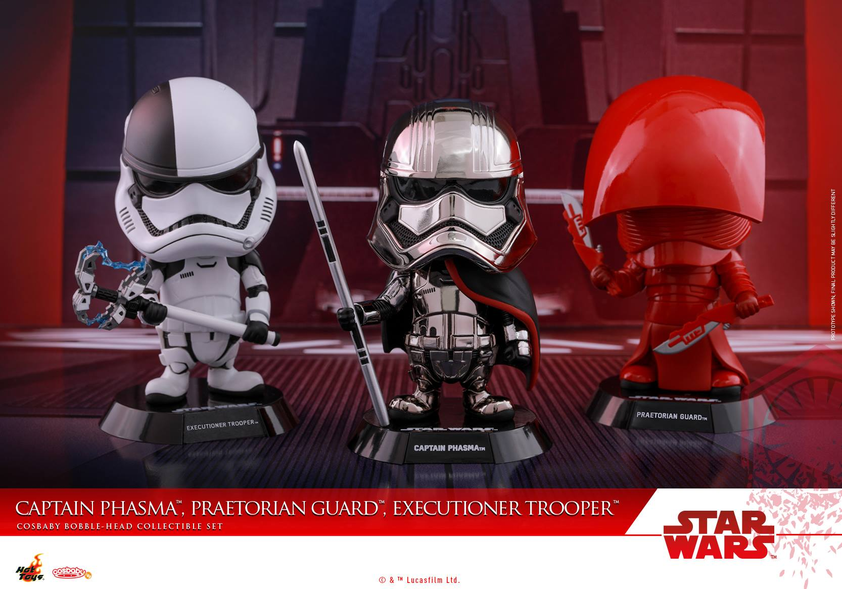 Hot Toys COSB415 Captain Phasma, Praetorian Guard & Executioner Trooper Set