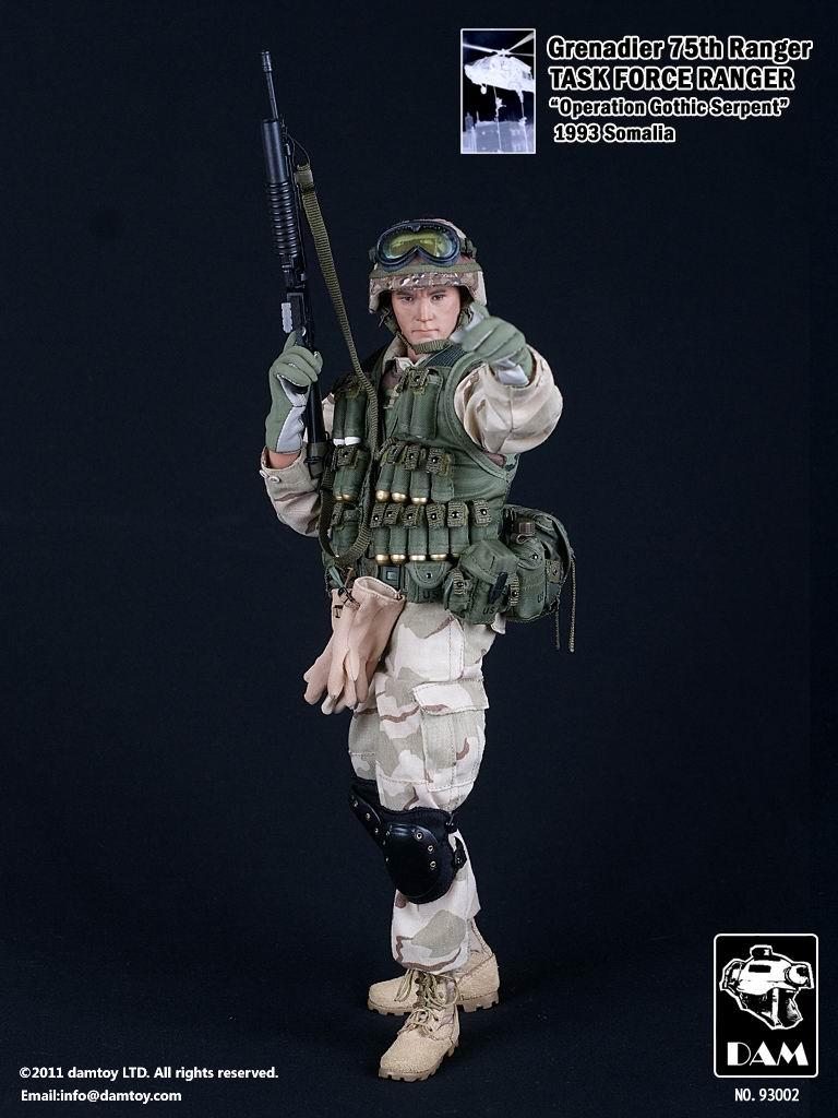 DAMTOYS No.93002 Grenadler 75th Ranger TASK FORCE RANGER