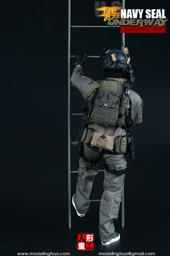 Modeling Action Figures Navy SEAL Boarding Unit Black Shirt 1//6 Scale