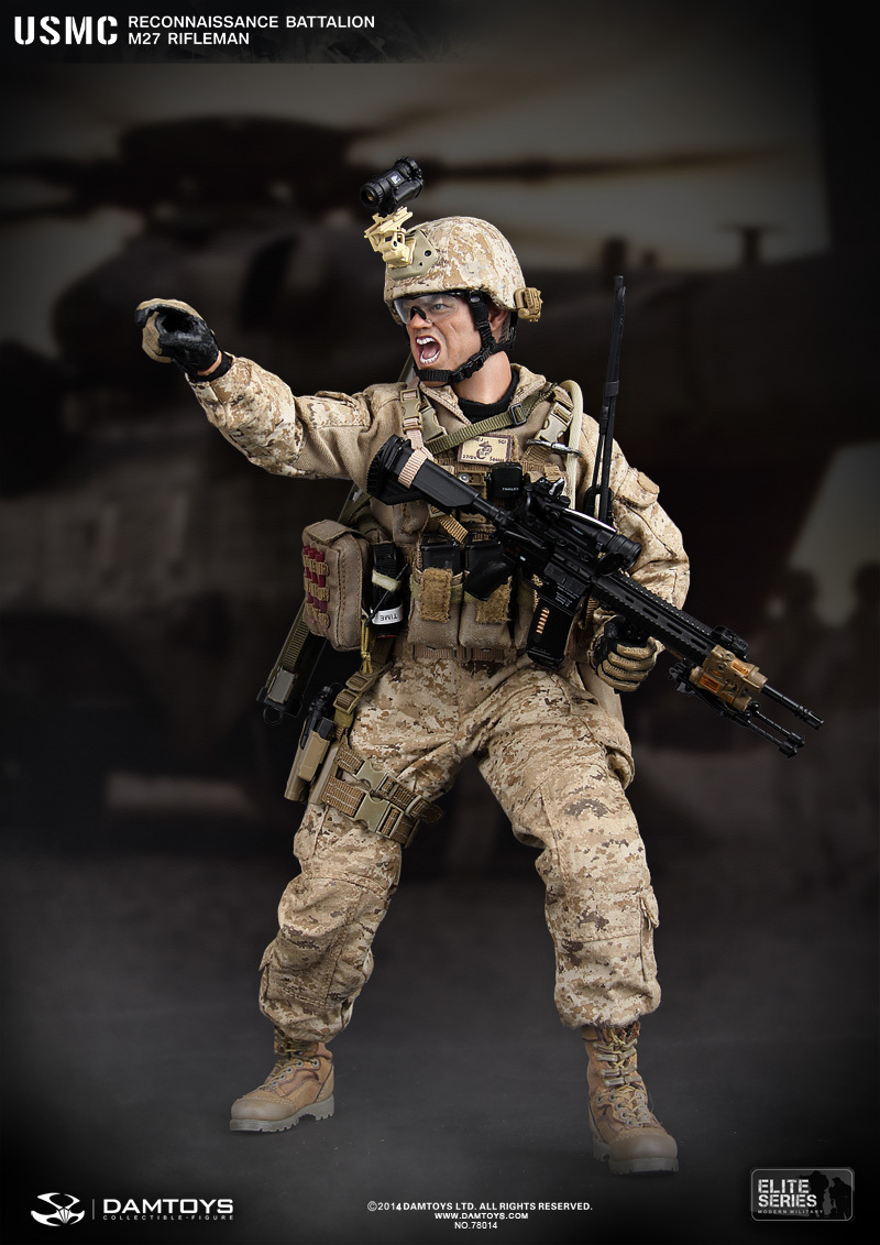 DAMTOYS No.78014 RECONNAISSANCE BATTALION M27 RIFLEMAN in afghanistan