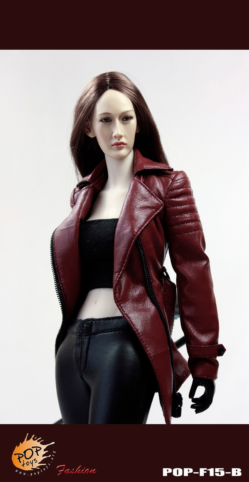 POPTOYS F15-B RED (The Nikita female agent leather suit