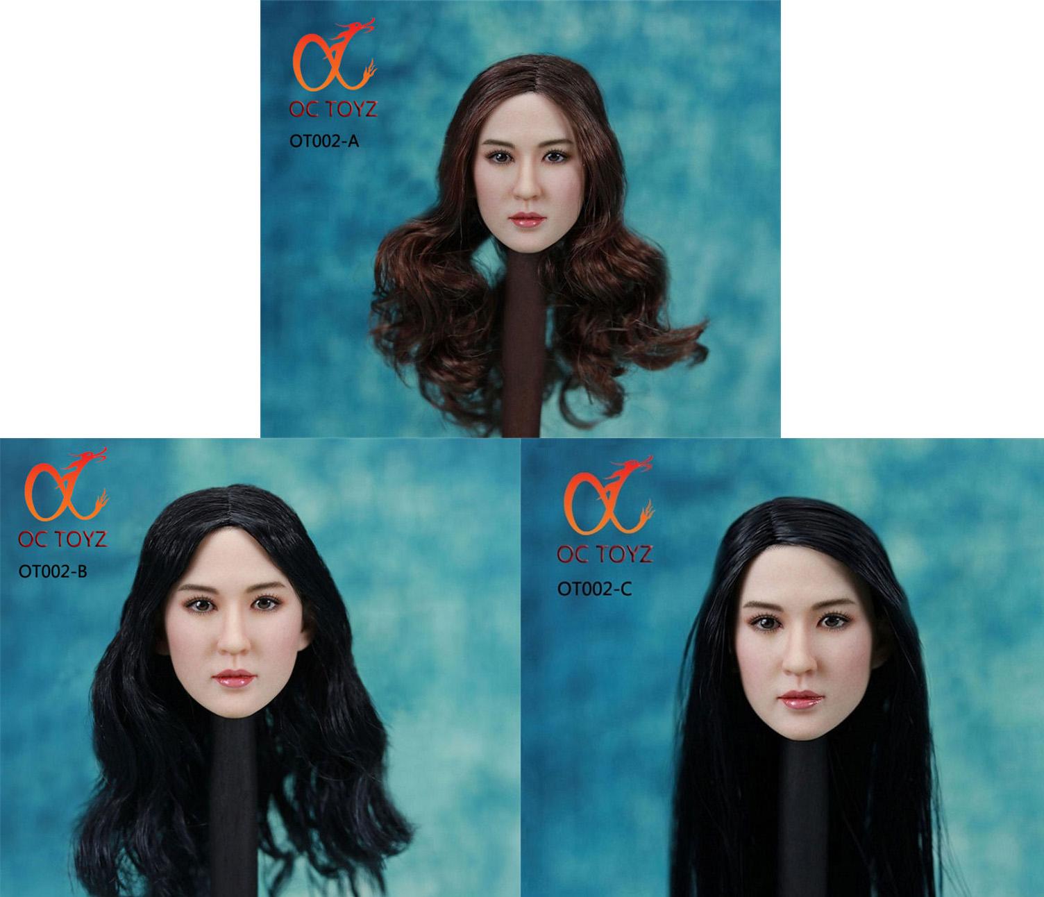 OC TOYZ OTOO2A / OT002B / OT002C Asian female headsculpt