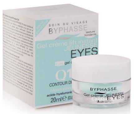 **พร้อมส่ง**BYPHASSE Gel Cream Lift Instant Q10 Eye Cream SPF8 ขนาด 20 ml. ผลิตภัณฑ์บำรุงรอบดวงตา มีส่วนผสมกรดไฮยาลูโรที่ช่วยเพิ่มความยืดหยุ่นของผิวด้วยโคเอนไซม์ Q10 เพิ่มประสิทธิภาพสำหรับกระชับผิว เนื้อครีมมอบความชุ่มชื้นให้ผิวรอบดวงตาเรียบเนียนผิวดูอ่อน