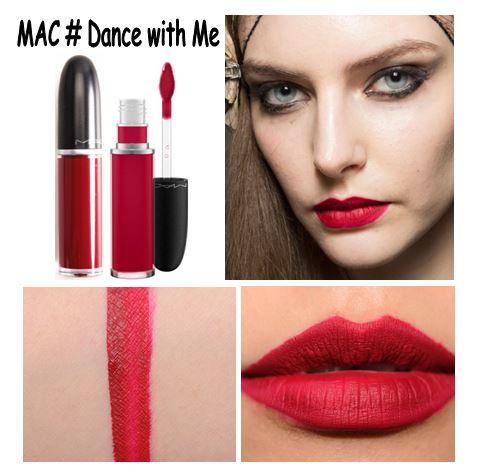 **พร้อมส่ง**MAC Retro Matte Liquid Lipcolour # Dance with Me สีแดงแครนเบอร์รี่ ลิปลิควิดแมทมาในแท่งใส มองเห็นสีลิปชัดเจน ทาแล้วแห้งเร็ว ปากดูแมตต์เป็นกำมะหยี่ เฉดสีมีทั้งสีนู้ดและสีเข้มให้เลือก ติดทนนาน กินข้าวกินนํ้าไม่หลุด พู่กันหัวฟองน้ำสำหรับทาลิปสติก
