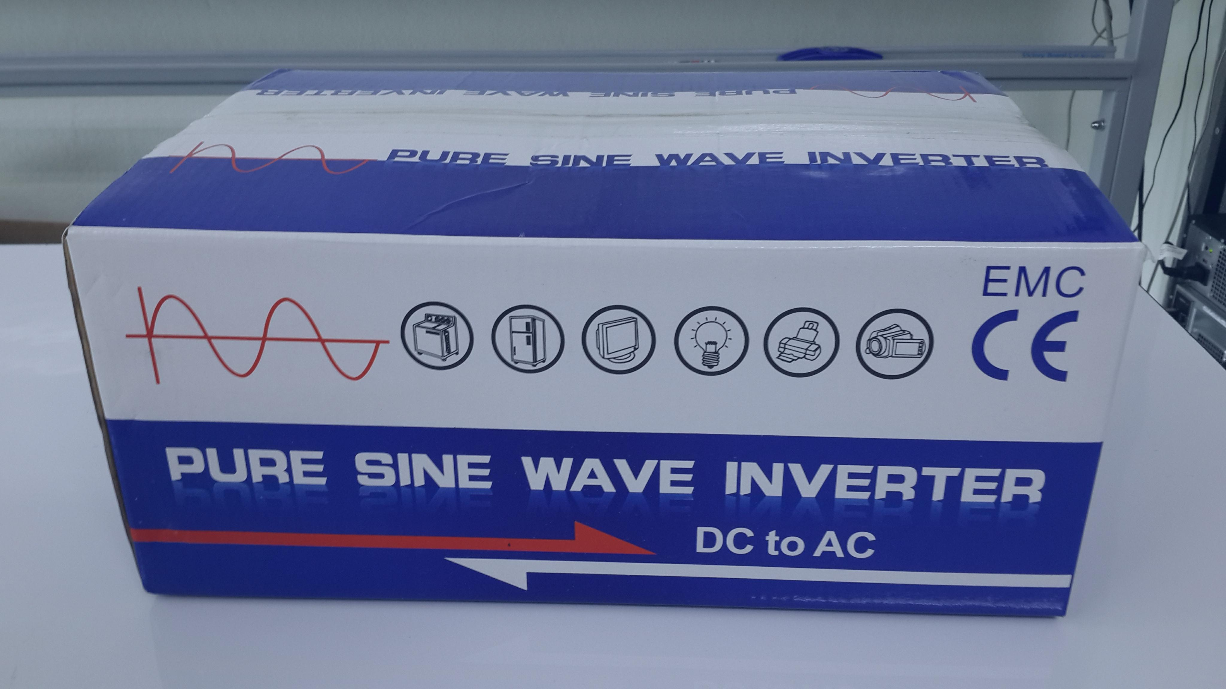 Pure Sine Wave Inverter 1000W/12V/230V/50Hz