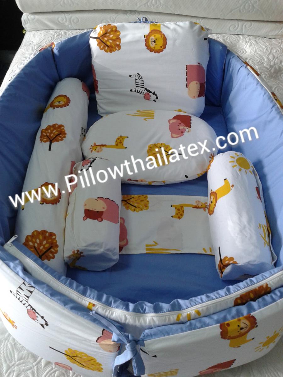 ชุดที่นอนเด็กอ่อนยางพารา แบบขอบตั้งได้ BABY-SET 5 ชิ้น