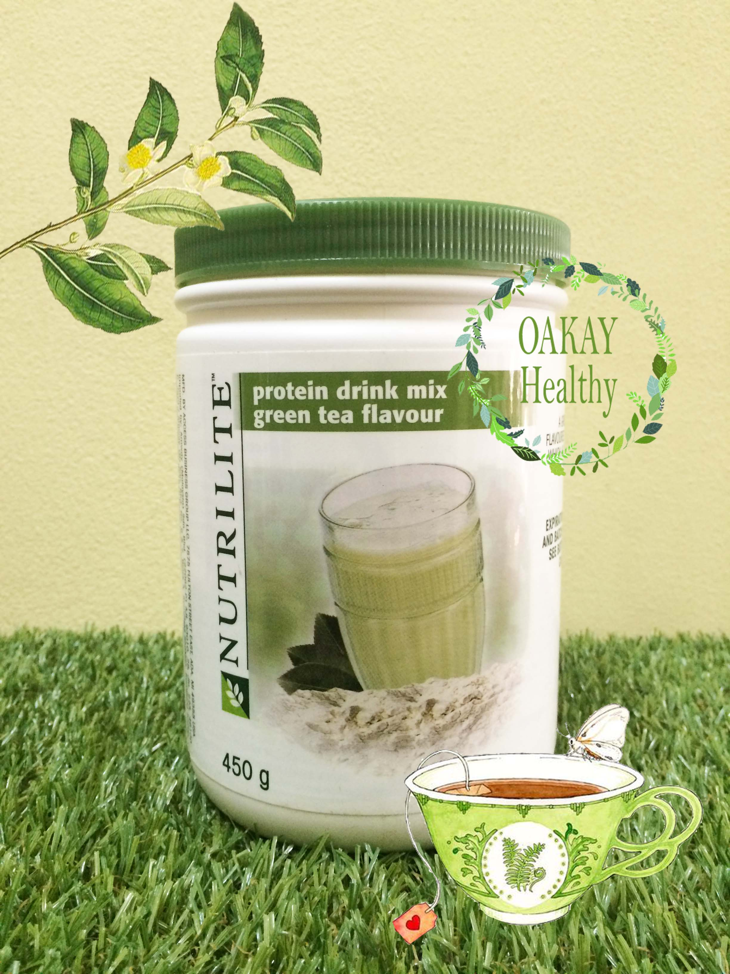 Nutrilite protein drink mix green tea oakayhealthy for Mixed drinks with green tea