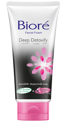 Biore Facial Foam Deep Detoxify บิโอเร เฟเชี่ยล โฟม ดีพ ดีท็อกซิฟาย