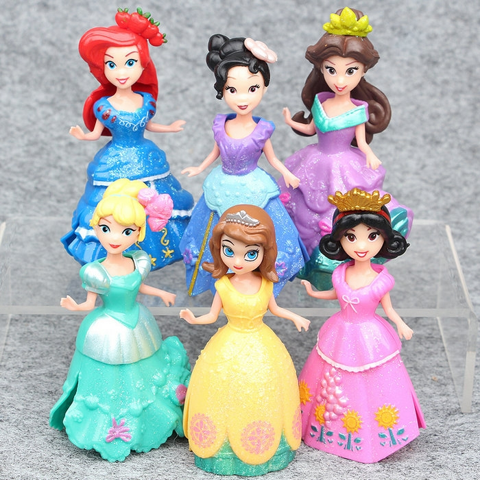 ของเล่นเด็ก ตุ๊กตาเปลี่ยนชุดได้ เซ็ตเหล่าเจ้าหญิง มาใหม่ เซ็ต