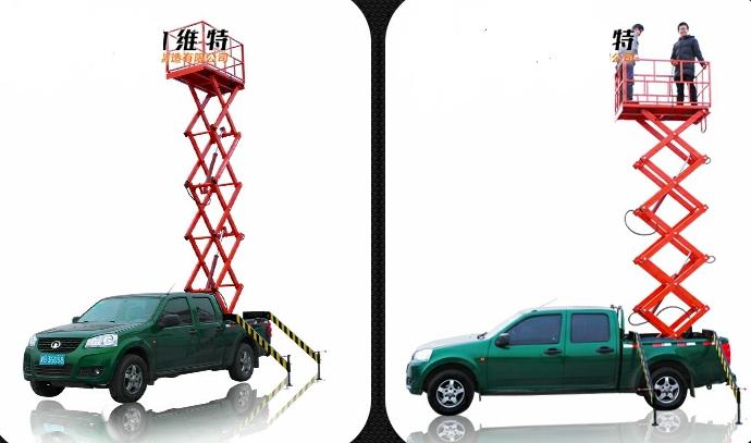 กระเช้าไฟฟ้าไฮดรอลิกติดตั้งบนรถกระบะ