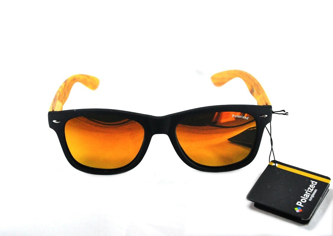 แว่นกันแดด โพลาไรซ์ ทรง Way farrer เลนส์ปรอทสีทอง