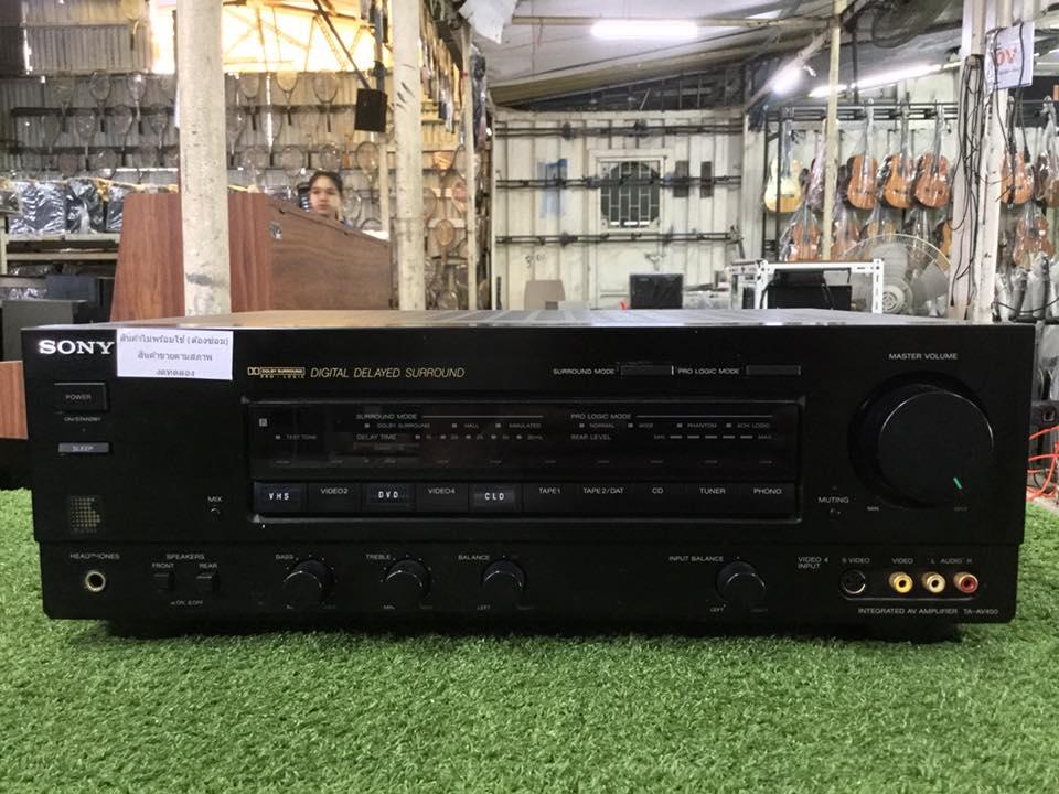 เครื่องขยายเสียง SONY-AV450 สินค้าไม่พร้อมใช้งานต้องซ่อม