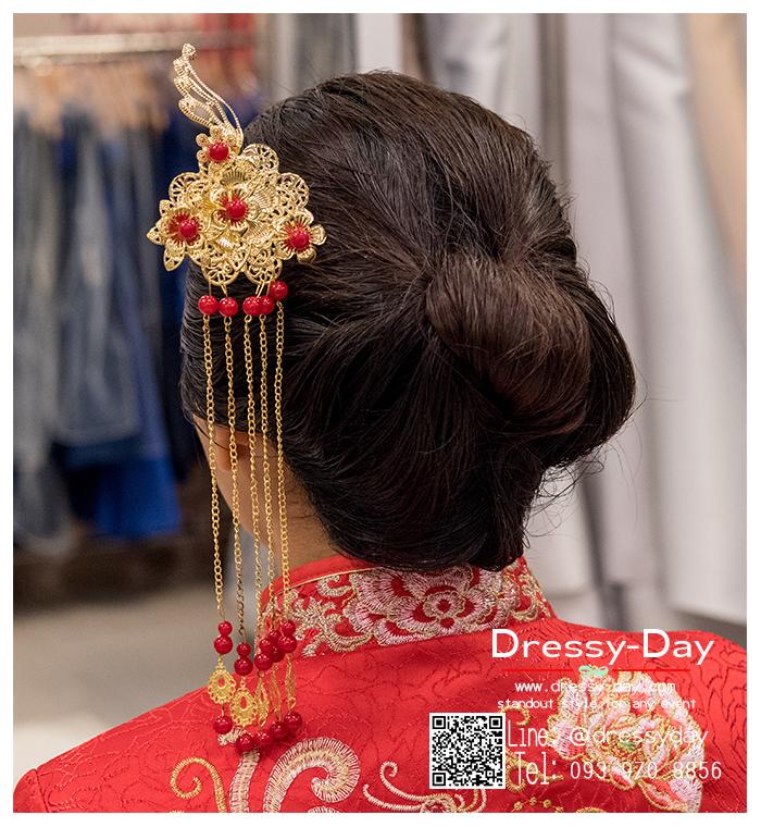 รหัส ปิ่นปักผมจีน : TR059 ขาย ปิ่นปักผมจีน พร้อมส่ง สีทอง เครื่องประดับผมจีน แบบโบราณ เหมาะมากสำหรับใส่ในพิธียกน้ำชา และงานแต่งงานธรรมเนียมจีน พิธีเสียบปิ่น คุณแม่เจ้าสาวจะติดปิ่นทองและทับทิมให้เจ้าสาว แทนคำอวยพร
