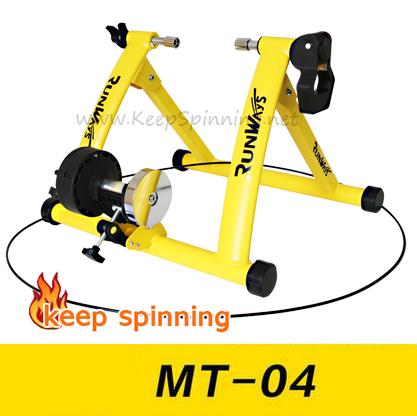 เทรนเนอร์จักรยาน รุ่น MT-04 มีสายรีโมทปรับความหนืด 6 ระดับ