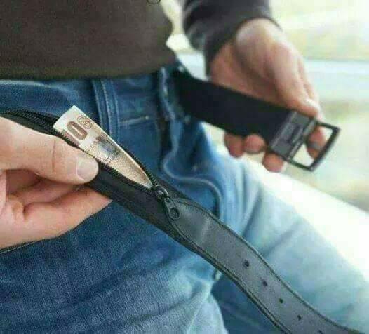 เข็มขัดซ่อนเงิน belt anti theft hidden wallet travel