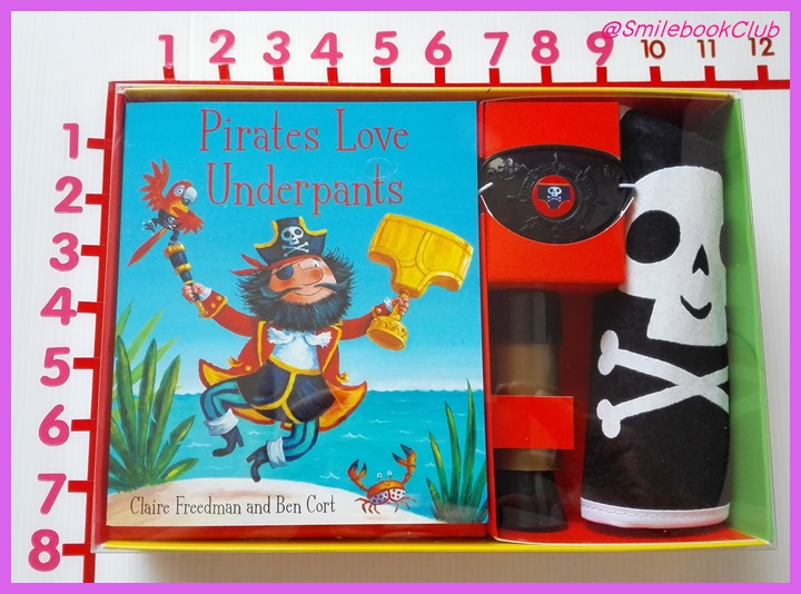 Pirates Love Underpants, Book and Pirate Dress-up Accessories