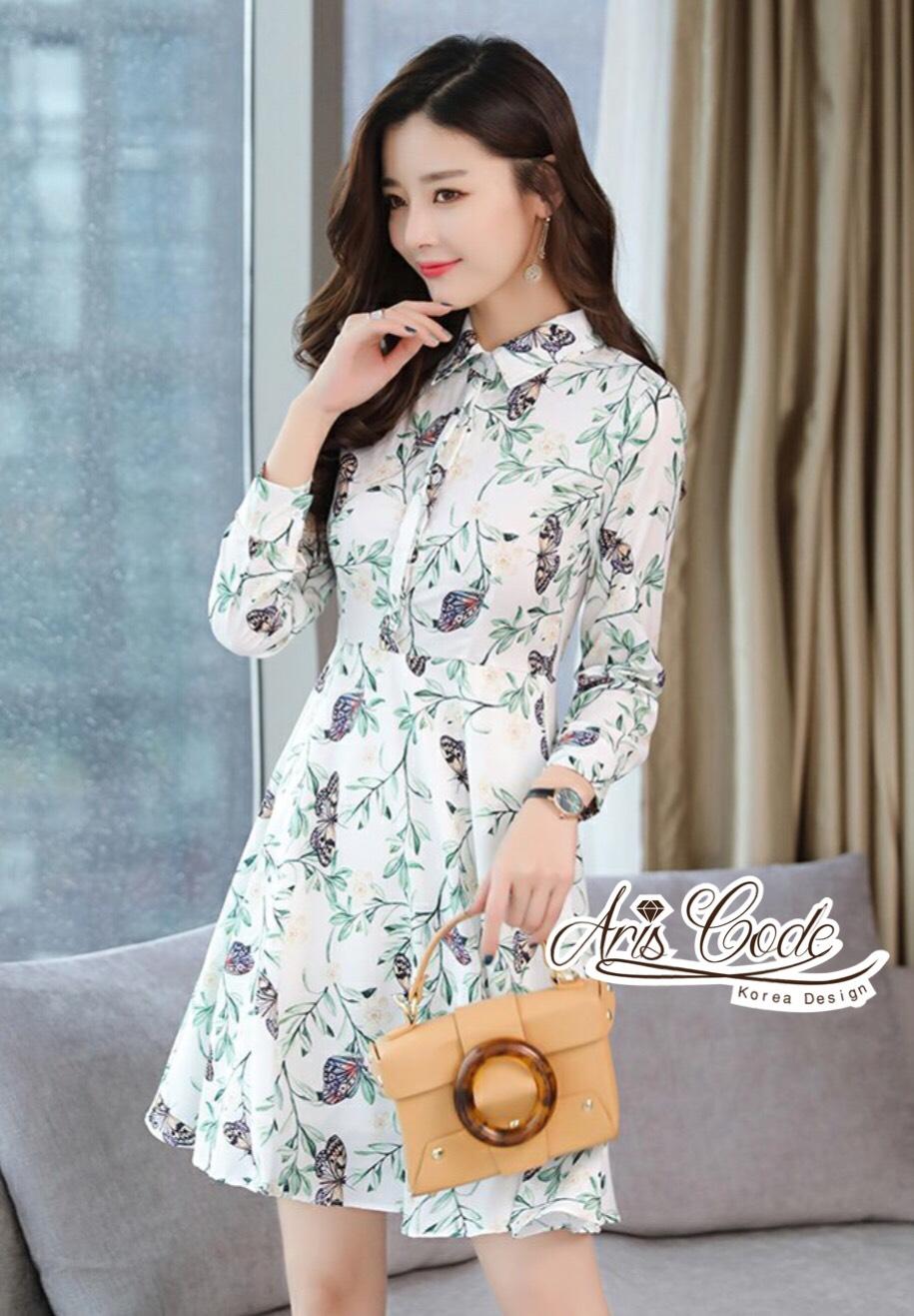 Aris Code Butterfly Dress Shirt