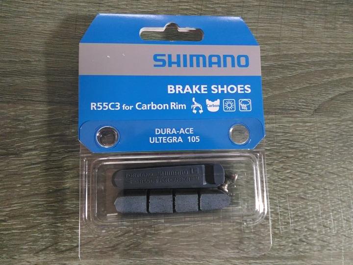 แผ่นยางเบรค Shimano R55C3 สำหรับล้อ คาบอน