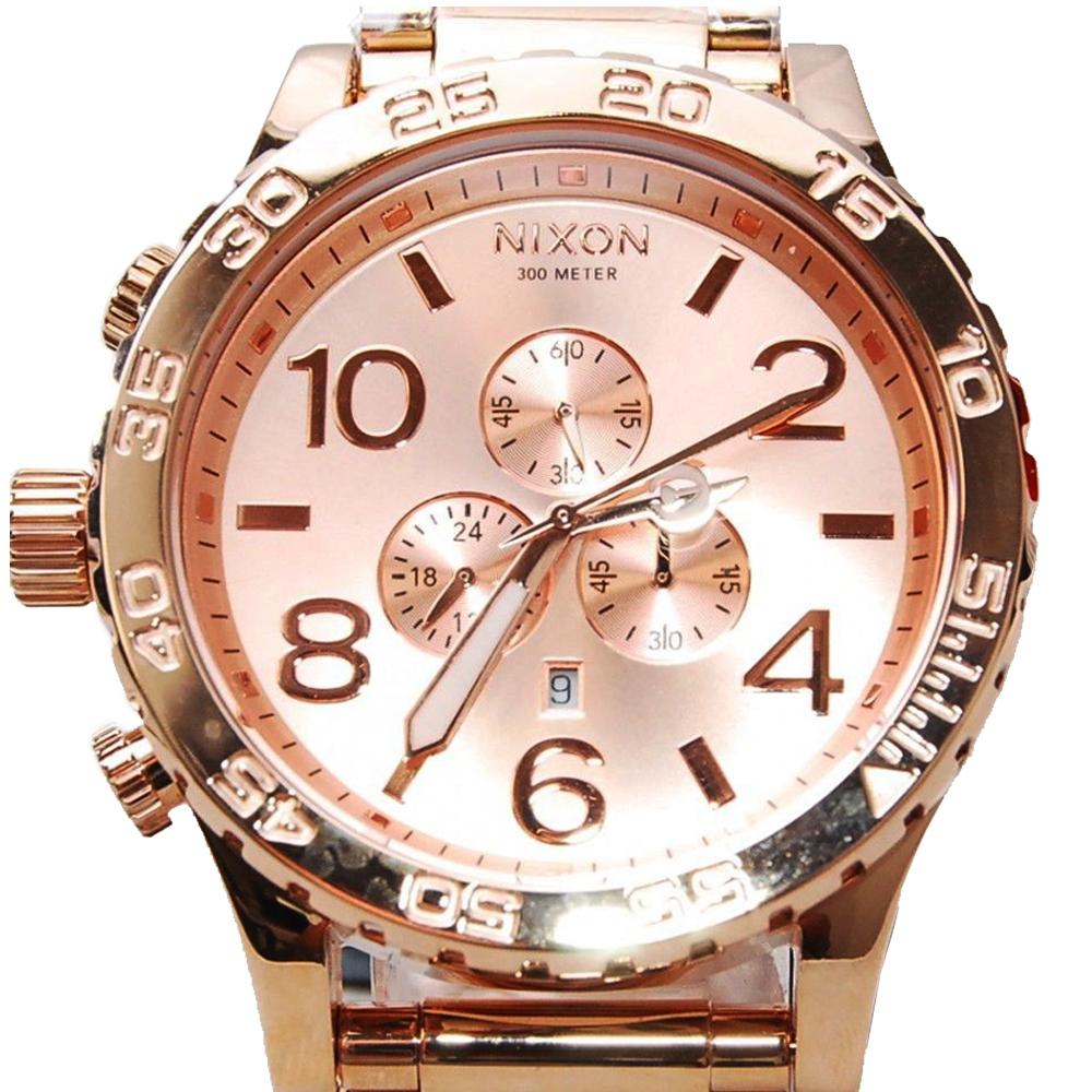 นาฬิกา NIXON Men Chronograph Chronograph Rose Gold Dails Watch A083897 48-20