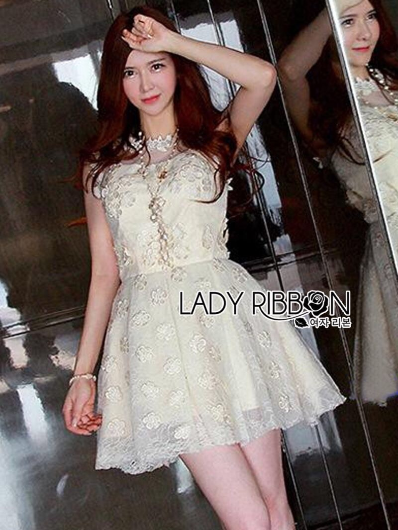 Lady Ribbon's Made Lady Kate Princess Flower Embroidered Lace Tutu Dress