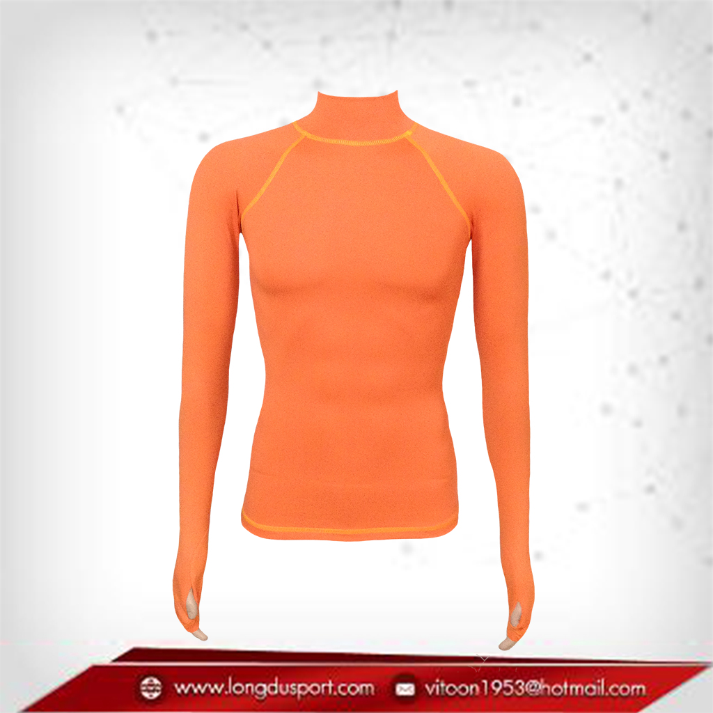 เสื้อรัดกล้ามเนื้อ รุ่นนิ้วสอด สีส้ม