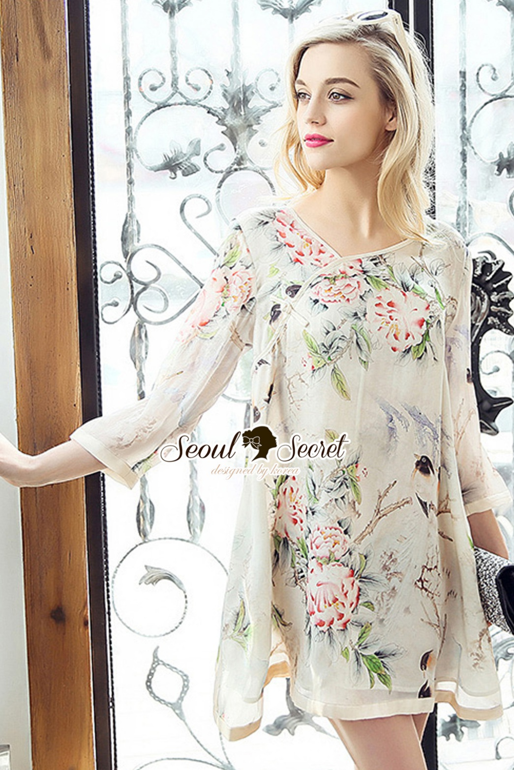 Seoul Secret Say's... Vintage Blossom Color Dress