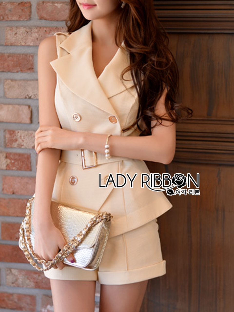 Lady Ribbon's Made Lady Sophia Smart Casual Double-Breasted Sleeveless Suit Set