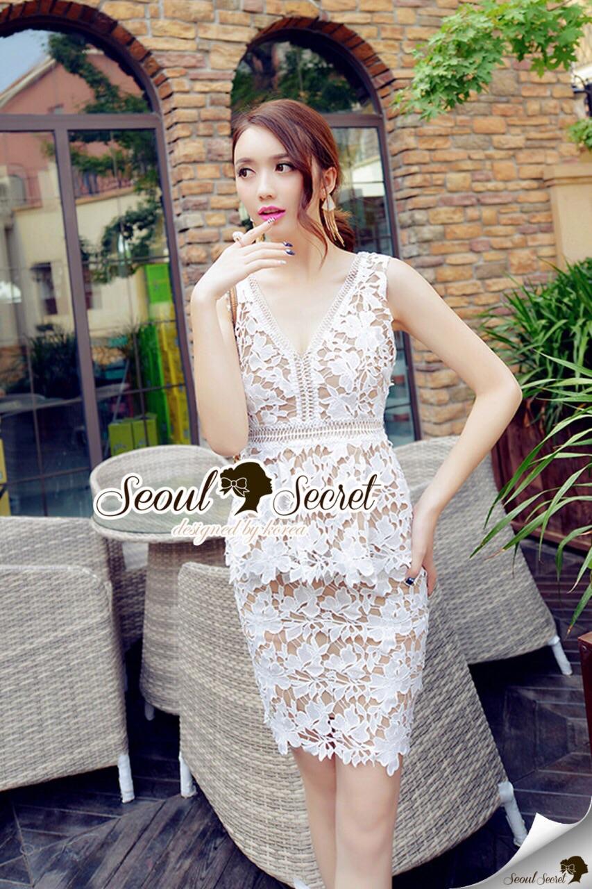 Seoul Secret Say's...Ladiest Princess Lacely Set ขาว