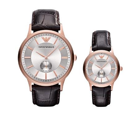 นาฬิกาคู่ EMPORIO ARMANI Watch, CLASSIC BROWN AR9101