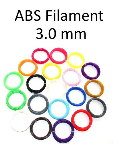 เส้นพลาสติก ABS Filament ขนาด 3.00 mm (1 kg / ม้วน)