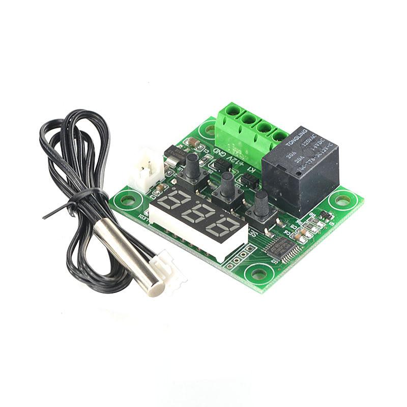 Digital Thermostat Module W1209 บอร์ดควบคุมอุปกรณ์ไฟฟา เปิด/ปิด ตามอุณหภูมิ