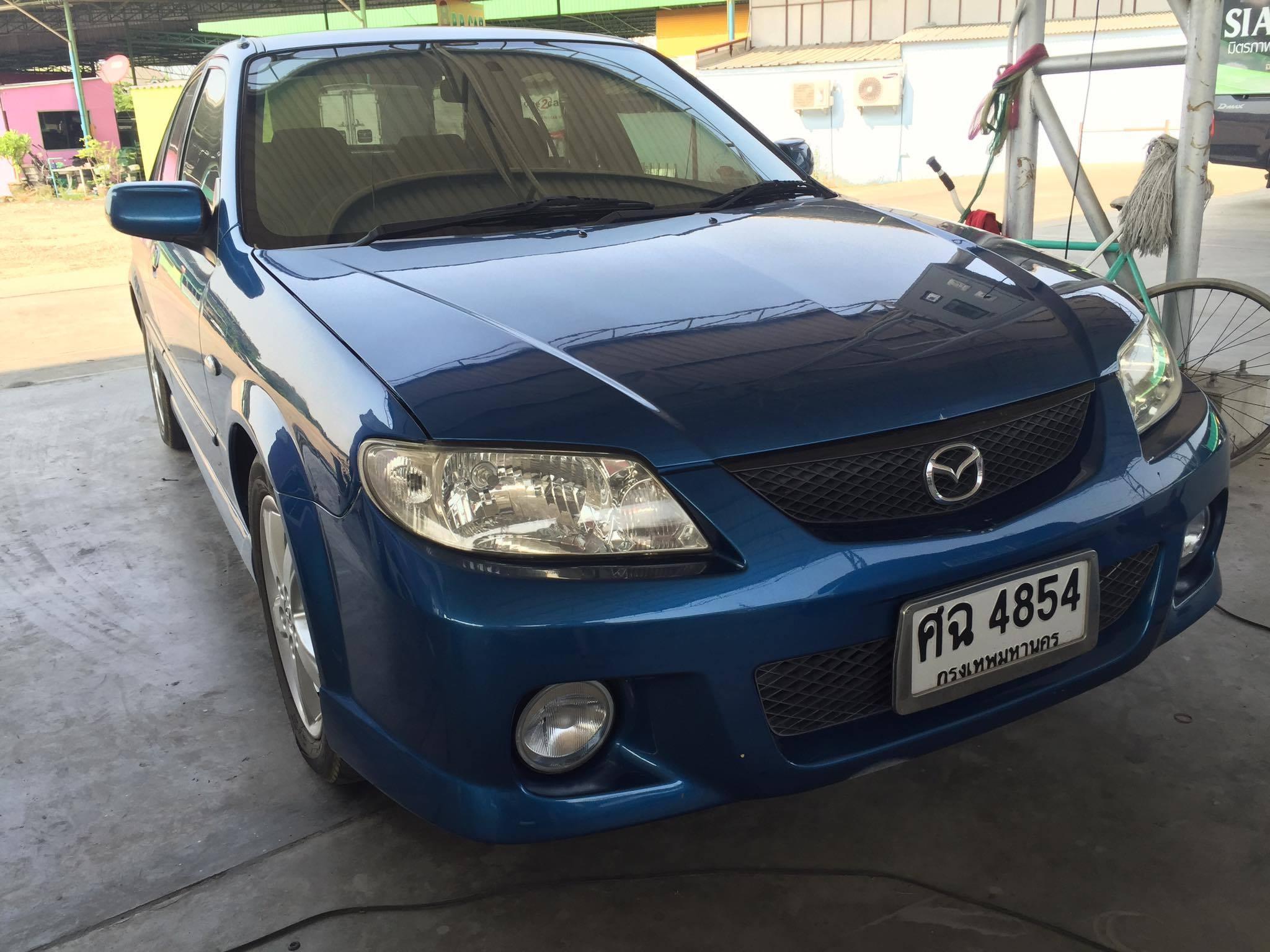 Mazda Protege 2.0 GT ปี2004 สีน้ำเงิน รุ่นท๊อป สภาพดี ราคาเบาๆ เครื่องดี ช่วงล่างแน่น ติดแก๊ส NGV