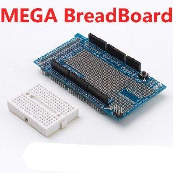 MEGA ProtoShield พร้อม Mini Breadboard