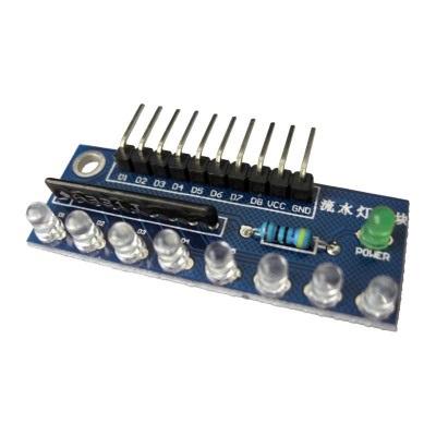 บอร์ดทดลอง LED 8 ดวง สีขาว