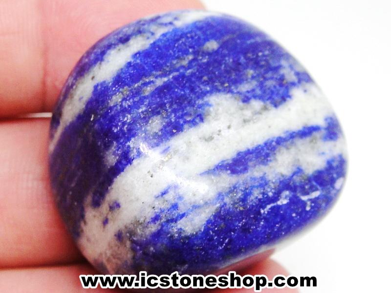 ลาพิส ลาซูลี่ Lapis Lazuli ขัดมันขนาดพกพา (40g)