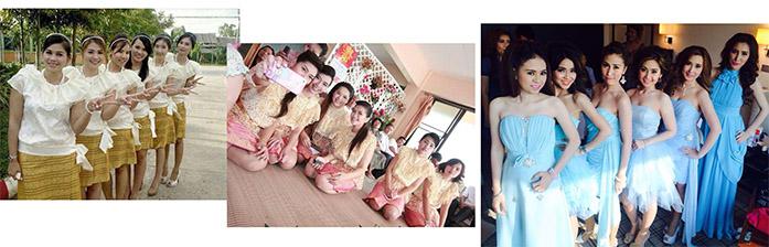 ชุดราตรี ชุดไปงานแต่งงาน เช่าชุดไทย