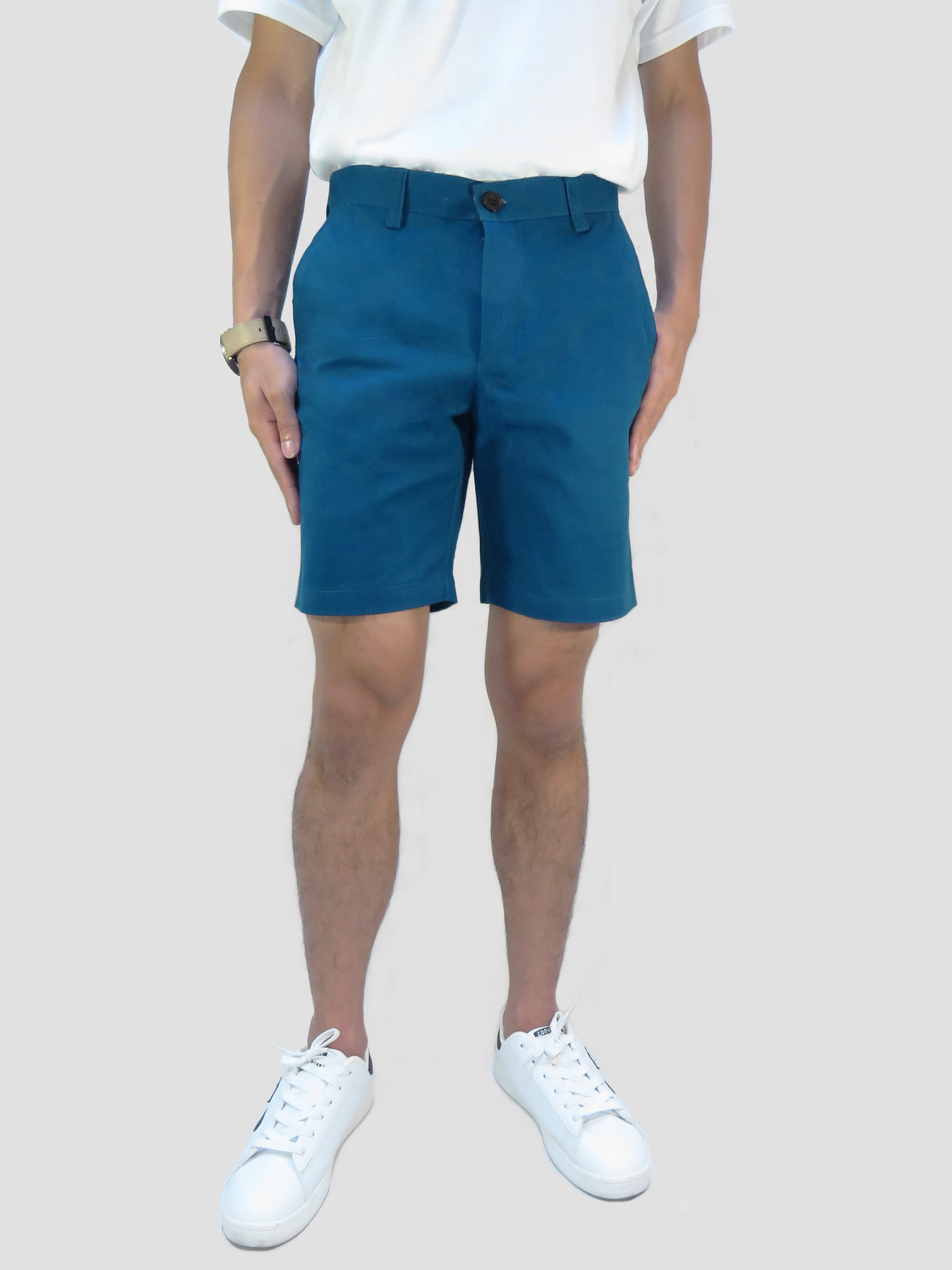 กางเกงขาสั้นชาย สีน้ำเงิน