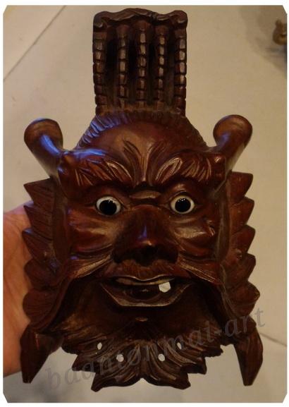 หน้ากากไม้แกะ (จักรพรรดิ์)ฮ่องเต้มังกร เล็ก สูง 16 cm