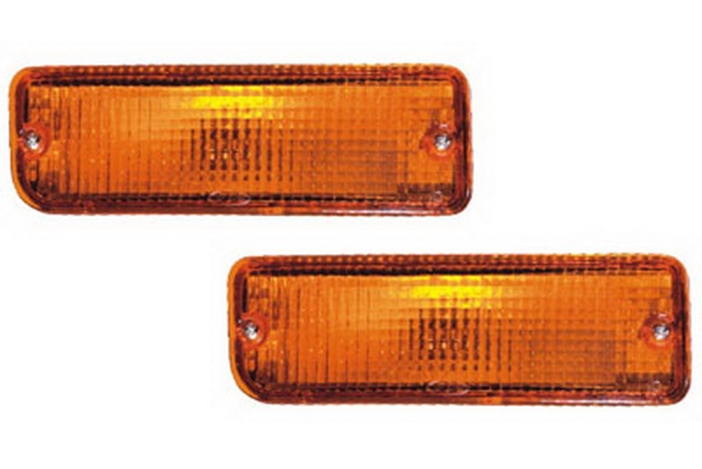 02-235 R/L Amber Front Direction Indicator Lamp, Amber Lens