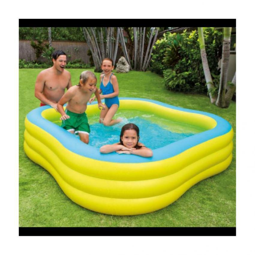 Intex Family Pool Swim สระน้ำครอบครัว 57495 +แถมสูบไฟฟ้า