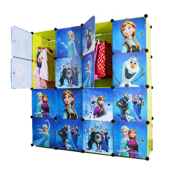 ตู้เก็บของ ตู้เสื้อผ้าเด็ก DIY ลาย โฟรเซ่น Frozen