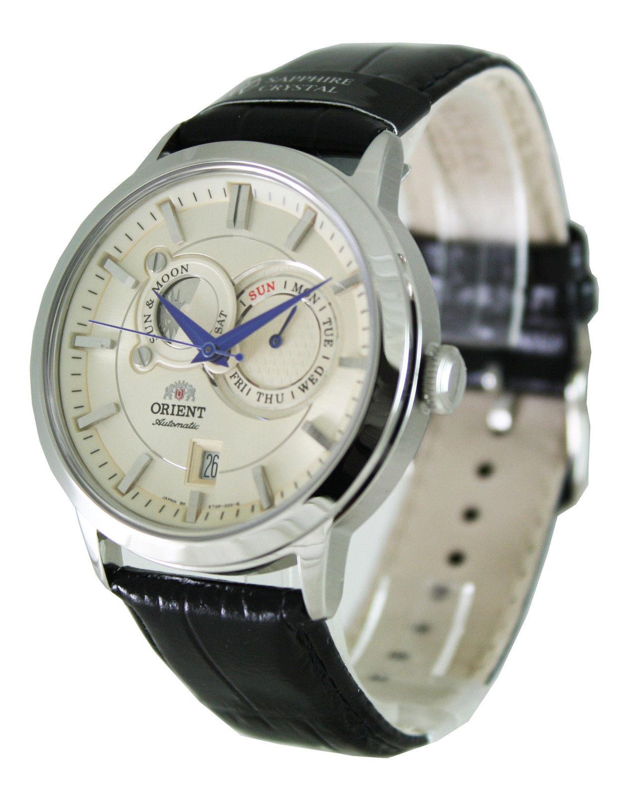นาฬิกาผู้ชาย Orient รุ่น SET0P003W0, Automatic Sun & Moon