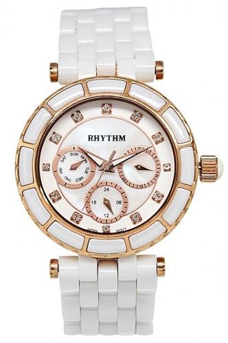 นาฬิกาผู้หญิง Rhythm รุ่น C1103C02, Sapphire Swarovski Ceramic C1103C-02, C1103C 02