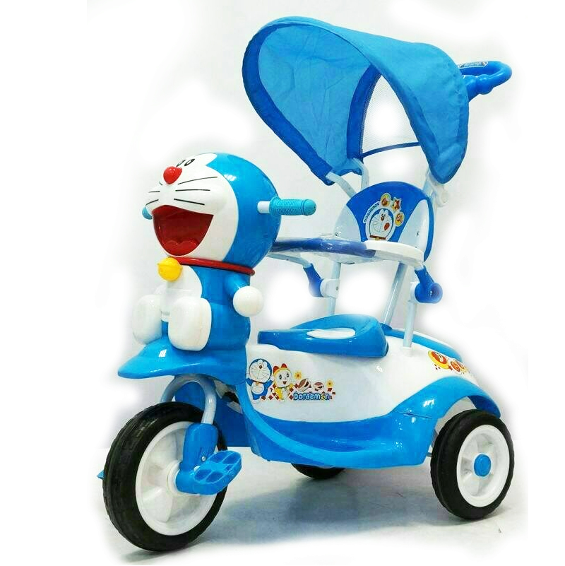 รถสามล้อปั่นพร้อมร่ม สำหรับเด็ก ลายลิขสิทธิ์โดราเอม่อน
