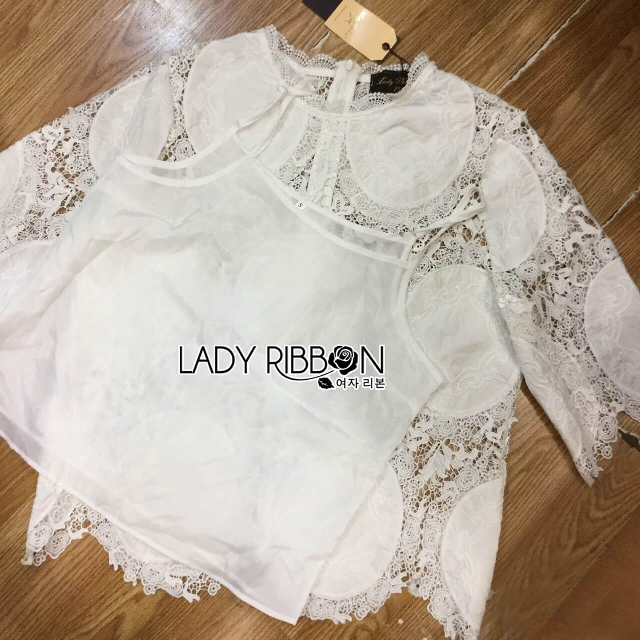 &#x1F380 Lady Ribbon's Made &#x1F380 Lady Dolce Sophisticated Lace Top
